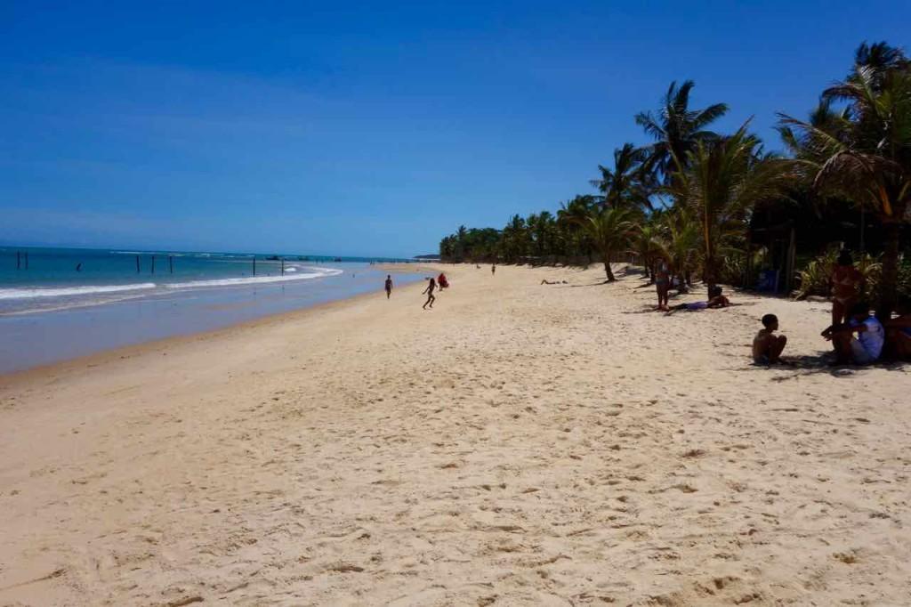 Trancoso Tipps Brasilien. Der Strand ist noch nicht wirklich überlaufen...
