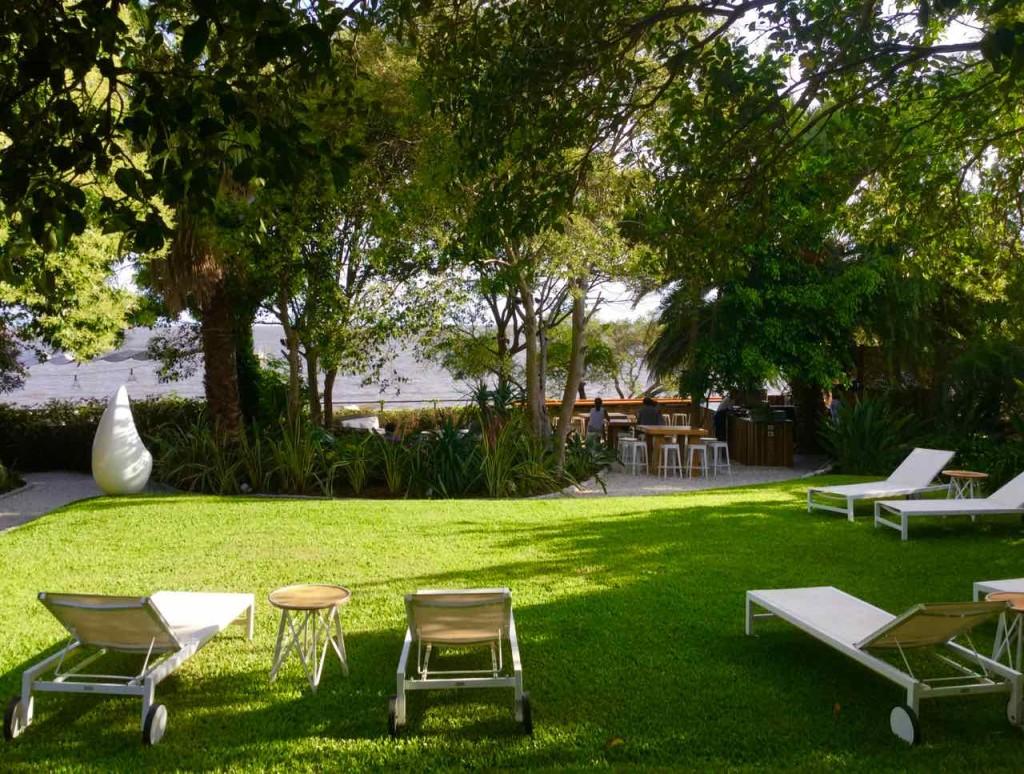 Colonia Uruguay, Garten vom Hotel Charco, iPod-Foto