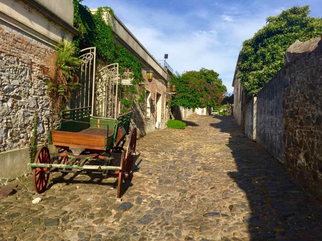 Colonia Uruguay, Gasse mit Pferdewagen, iPod-Foto