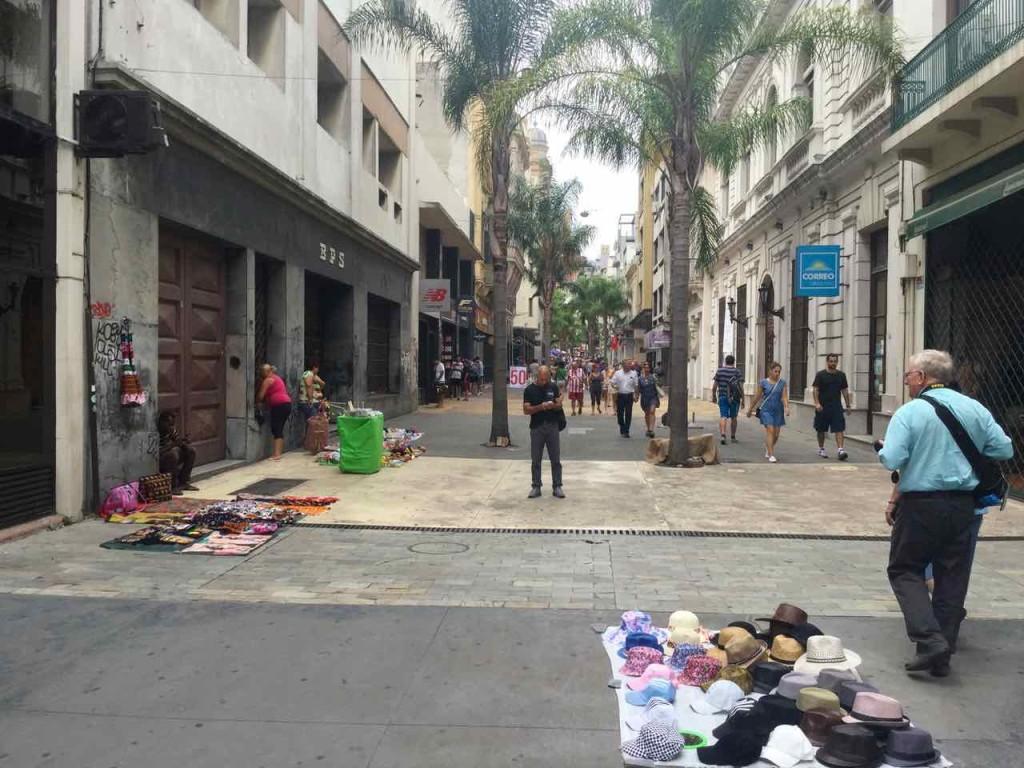 Montevideo Sehenswürdigkeiten, Fußgängerzone, Uruguay, iPod-Foto