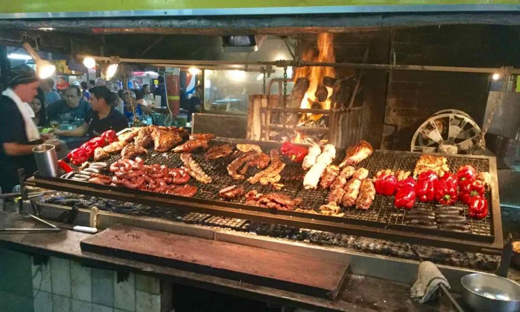 Montevideo Sehenswürdigkeiten, Markthalle, Grill 1, Uruguay, iPod-Foto