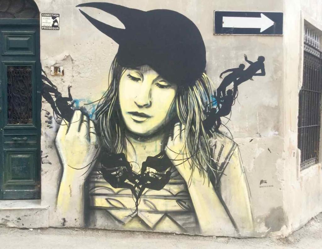 Montevideo Sehenswürdigkeiten, Mural by Alice, Uruguay, iPod-Foto