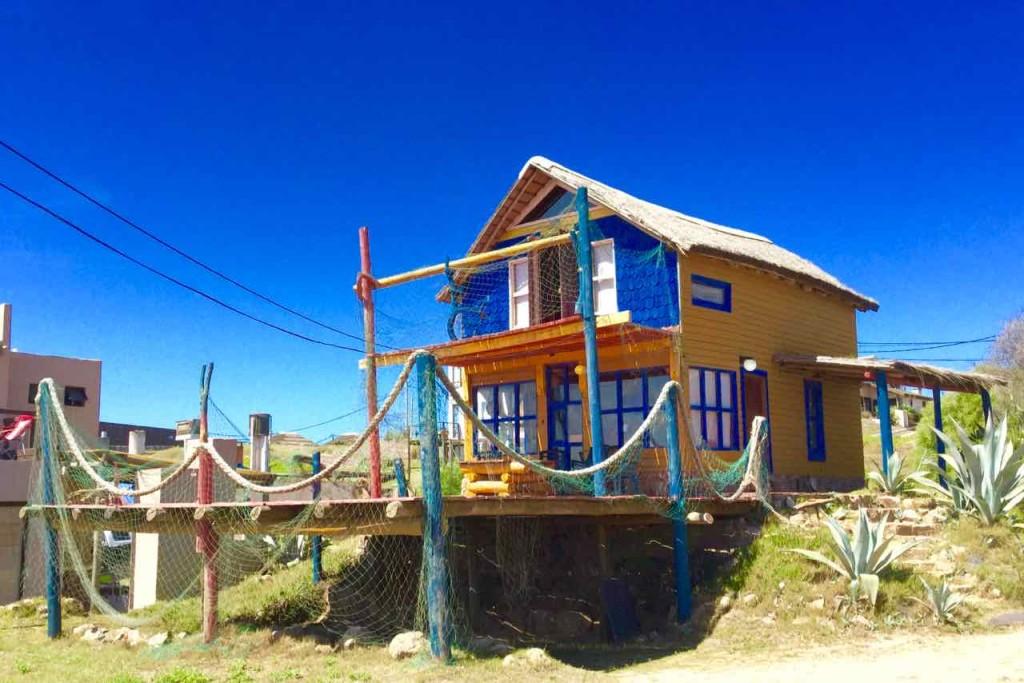 Punta del Diablo Strand, Titel?, Unterkunft Con Permiso, Uruguay