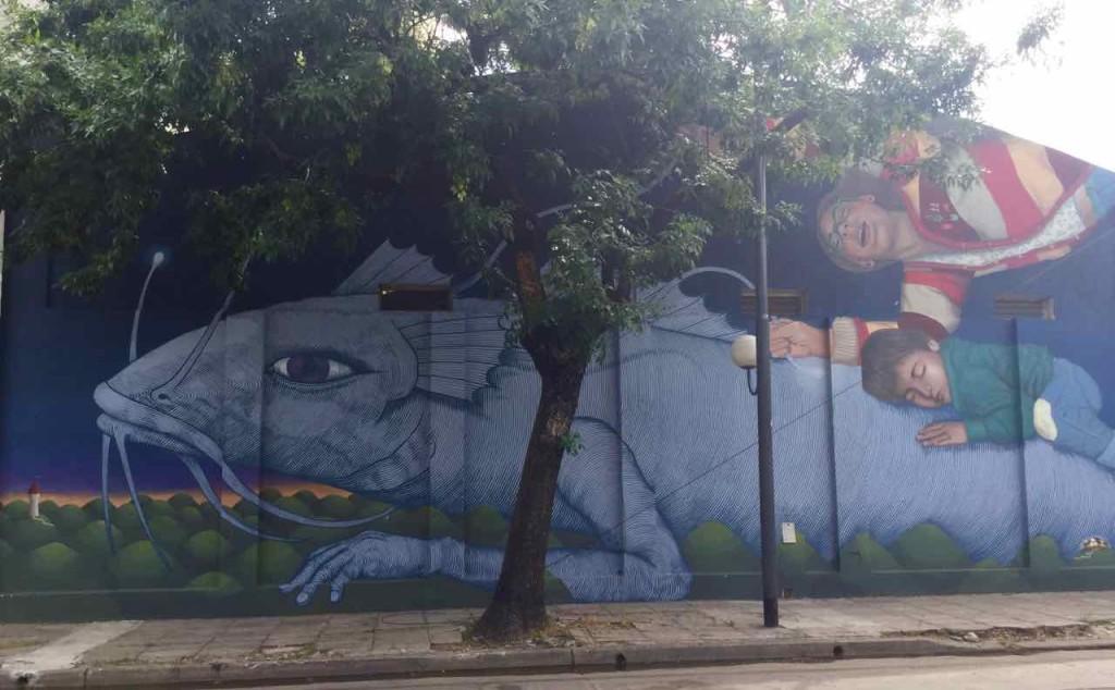 Buenos Aires Street Art in Barracas. Colectivo Licuado & Alfalfa. © PetersTravel.de.
