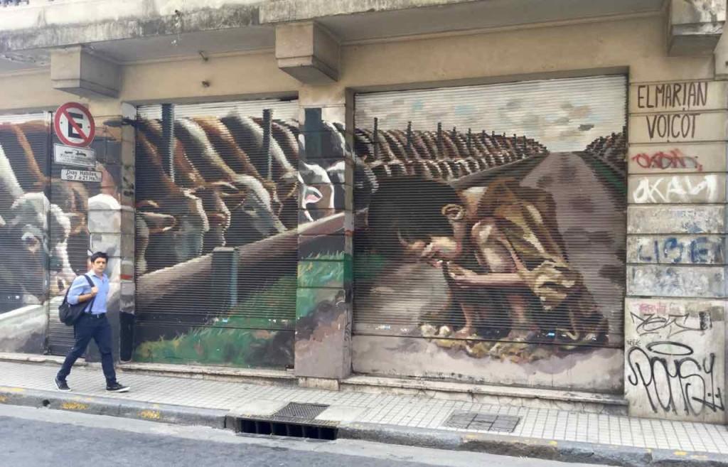 Buenos Aires Street Art in San Telmo, Artist: El Marian für die Vereinigung Voicot