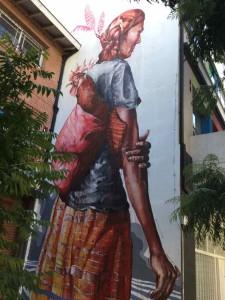 """Buenos Aires Street Art, Artist: Australier Fintan Magee, Technik: Dripping (im Deutschen: """"Nase""""), Fertigstellung in 1 1/2 Tagen. iPod-Foto"""