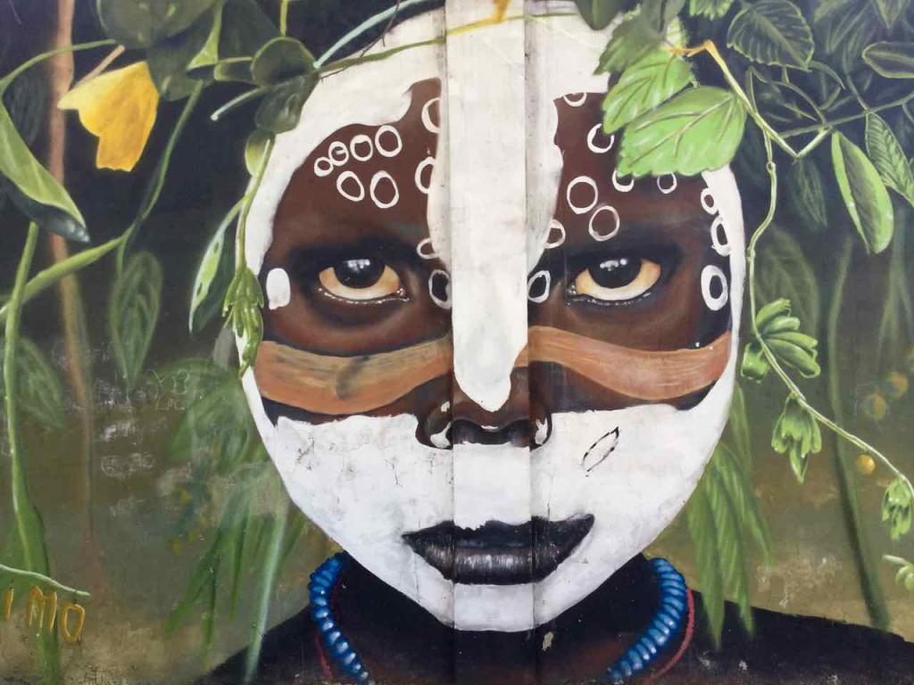 Buenos Aires Street Art, Artist: Primo, Farbige mit hypnotischem Blick, 2012, iPod-Foto