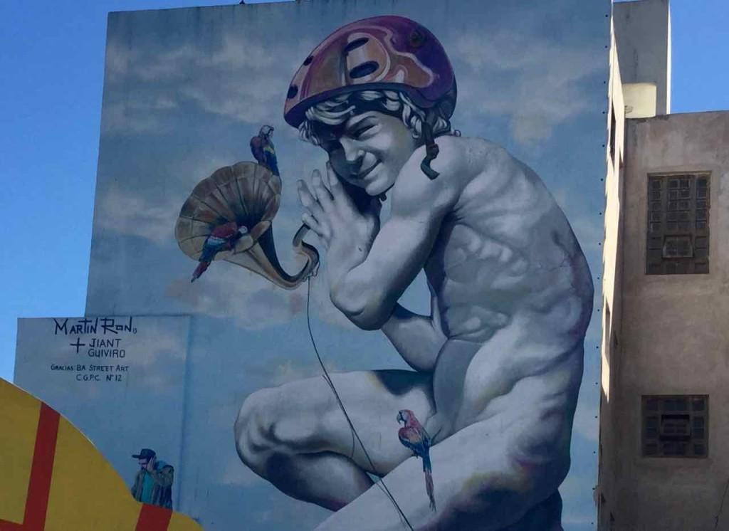 Buenos Aires Street Art, Detail links, Artist: Martin Ron, iPod-Foto