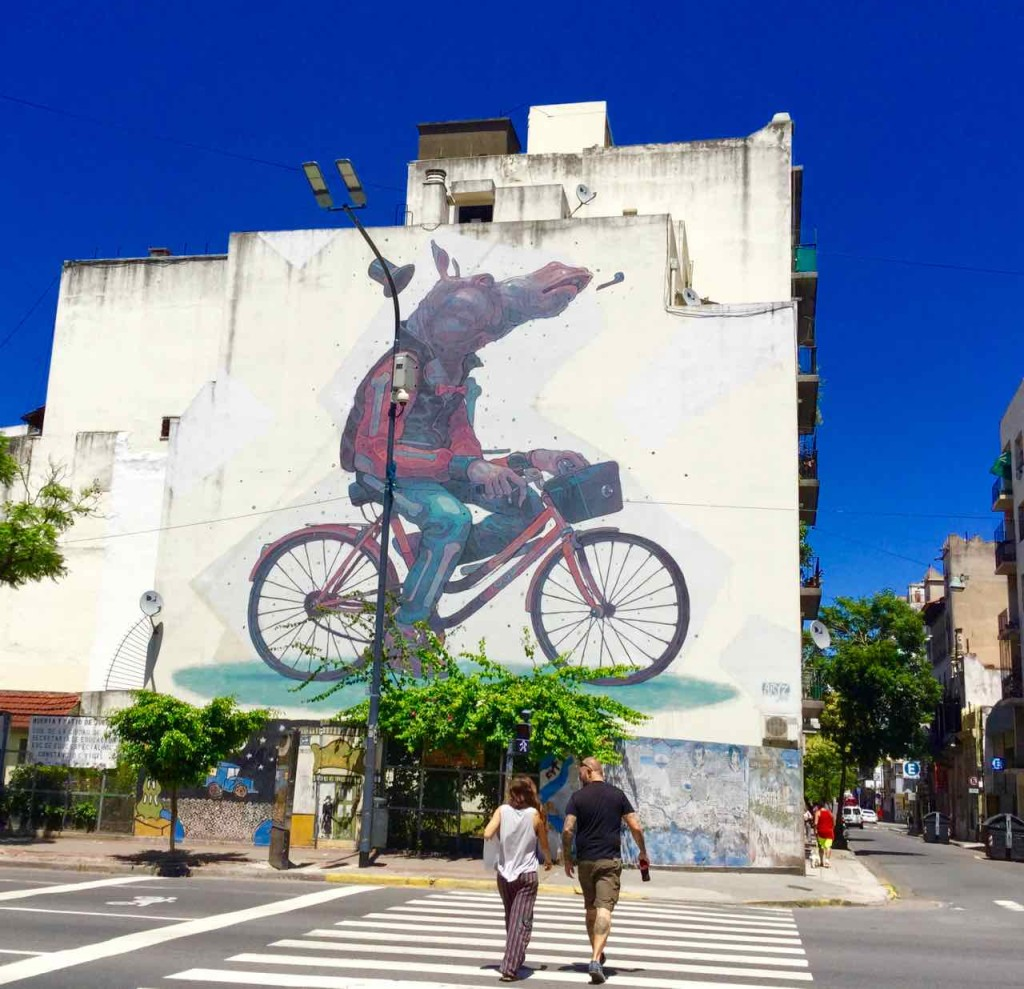 Streetart Buenos Aires, San Telmo, Artist: ARYZ (Spanien) , Ecke Independencia/Chacabuco,