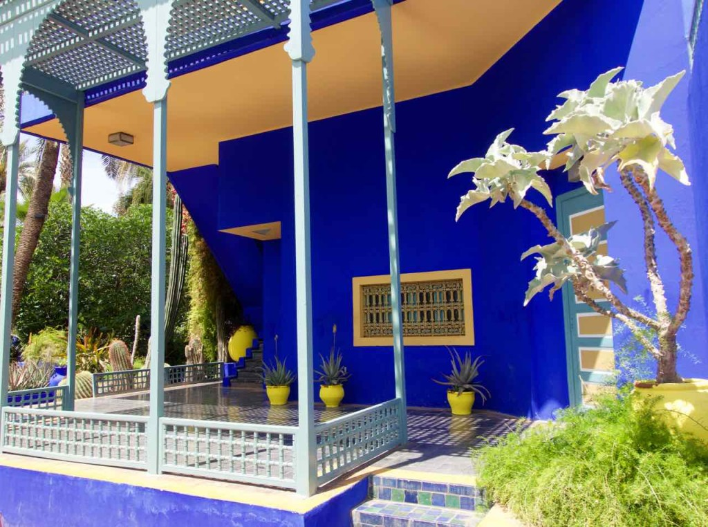 Jardin Majorelle Marrakesch, Haus unten