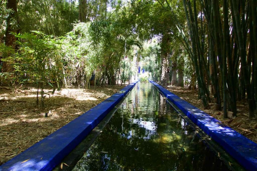 Jardin Majorelle Marrakesch, Wassergraben