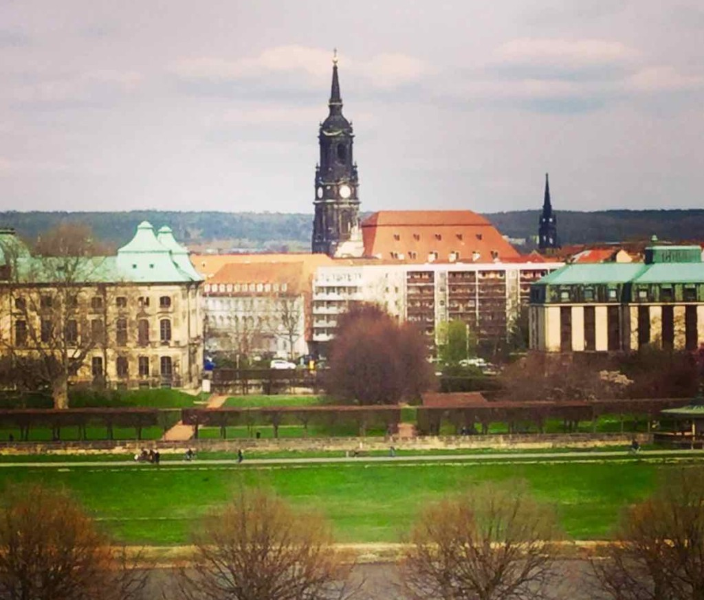 Dresden Sehenswürdigkeiten: Blick aus meinem Fenster im Hotel Maritim