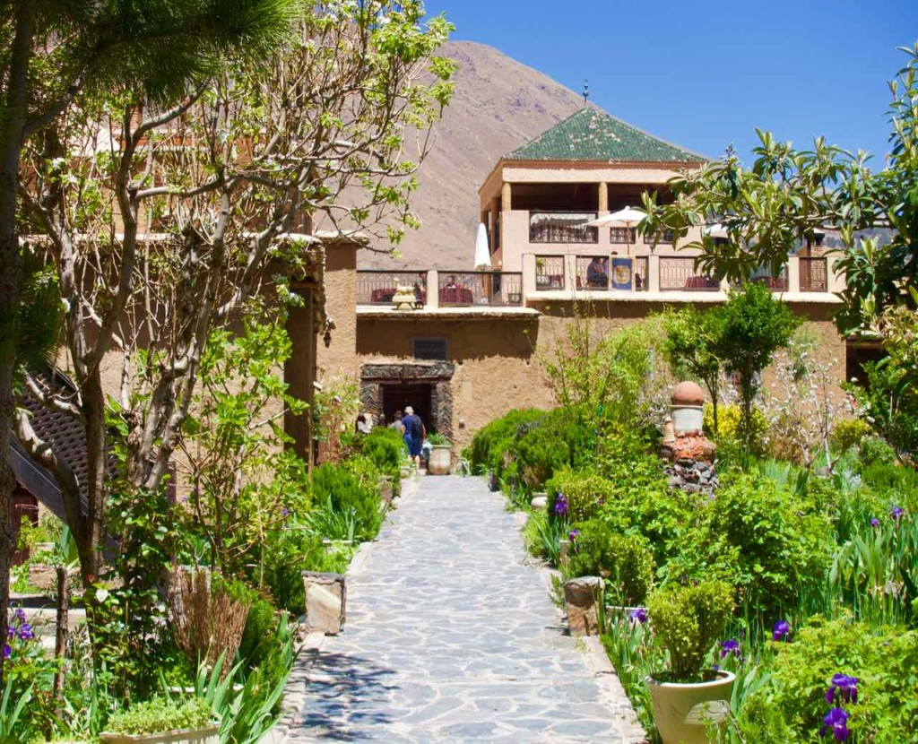 Kasbah du Toubkal im Imlil Tal, Gang zum Haupthaus, Marokko