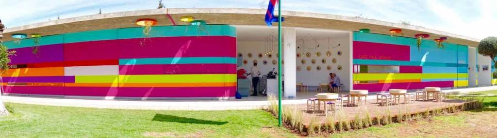Marrakesch Anima Garten von André Heller, Café Paul Bowles von außen, Panorama