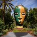 Marrakesch Anima Garten von André Heller, Mosaikkopf 3 mit Vignette, Titel, Marokko