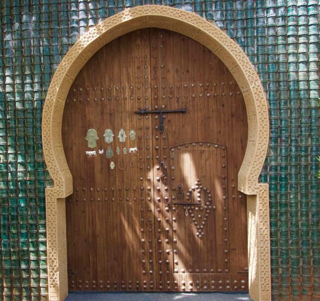 Marrakesch Sehenswürdigkeiten Anima Garten von Andre Heller, Eingangstür