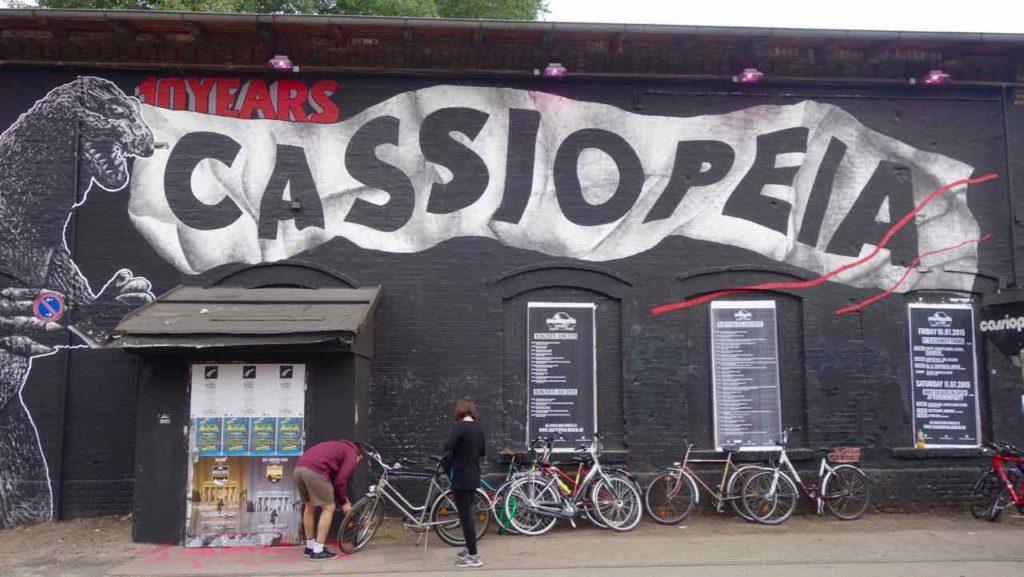 RAW-Gelände in Berlin, Street Art / Graffiti Cassiopeia