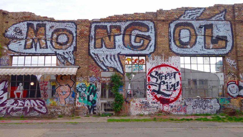 RAW-Gelände in Berlin, Street Art / Graffiti MONGOL