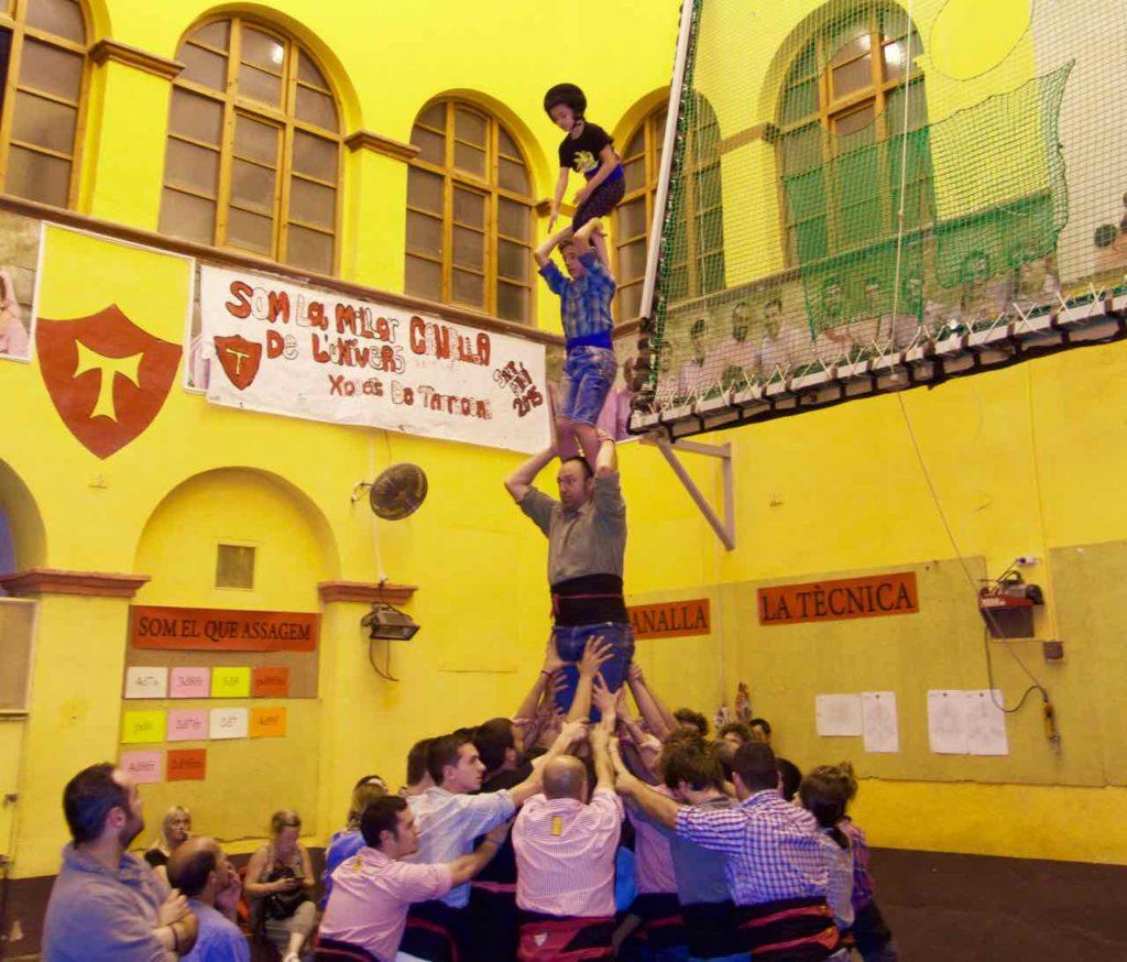 Tarragona, Castellers beim Training, Katalonien