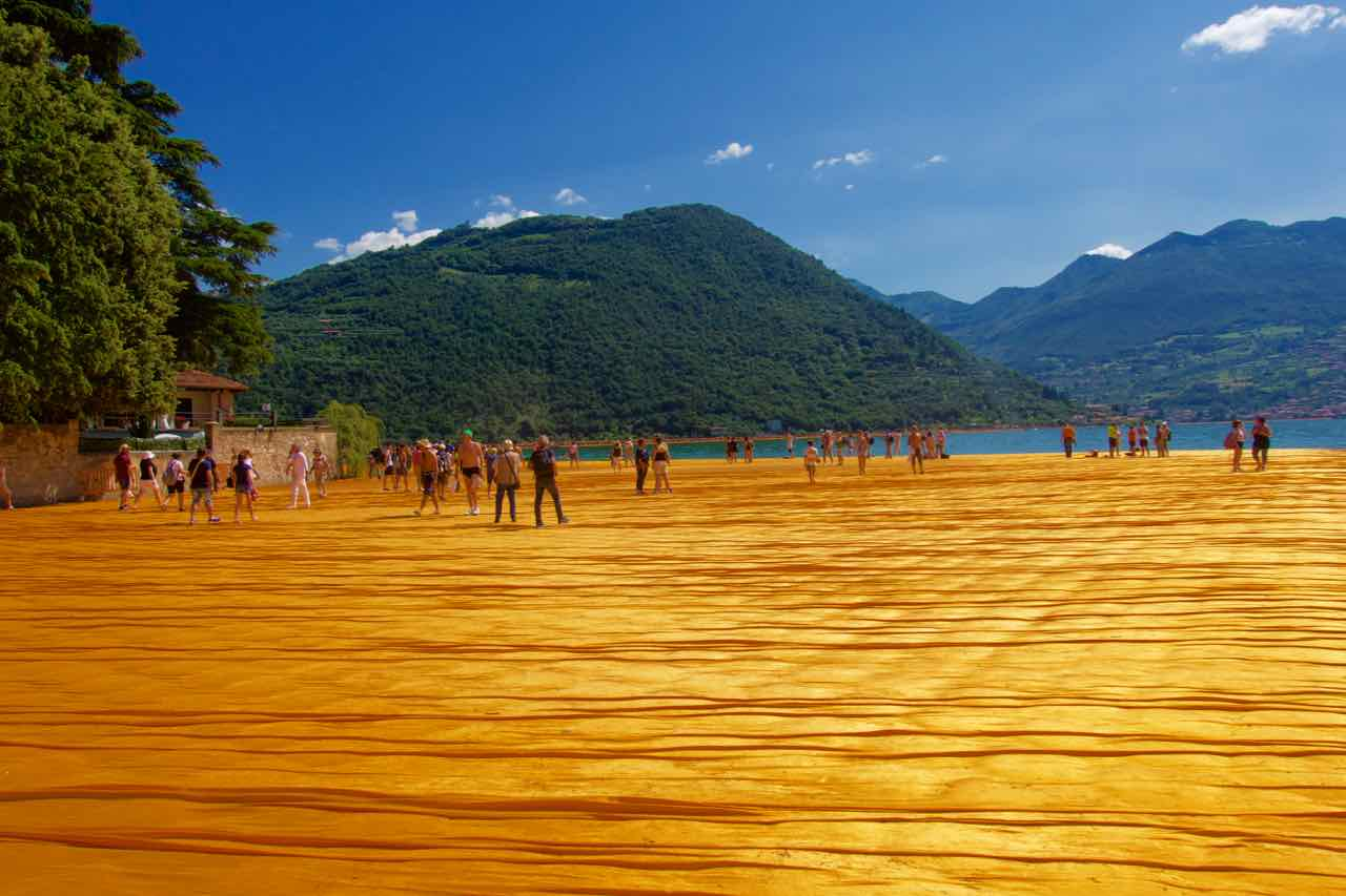 Christo Floating Piers, Lago d'Iseo, Iseo See, Insel San Paolo ©PetersTravel