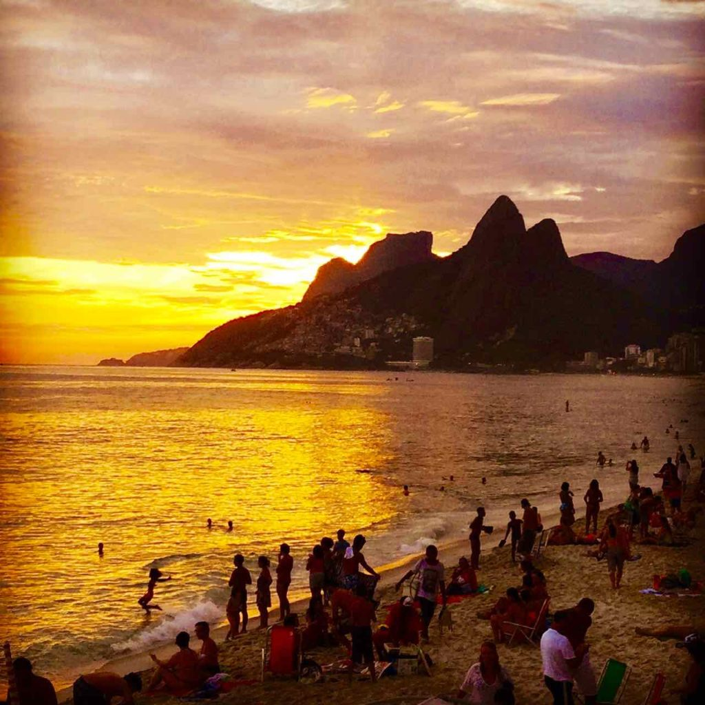 Foto-Highlights 2016, Sonnenuntergang in Ipanema, Rio, Brasilien, © Peter Pohle, iPod-Foto