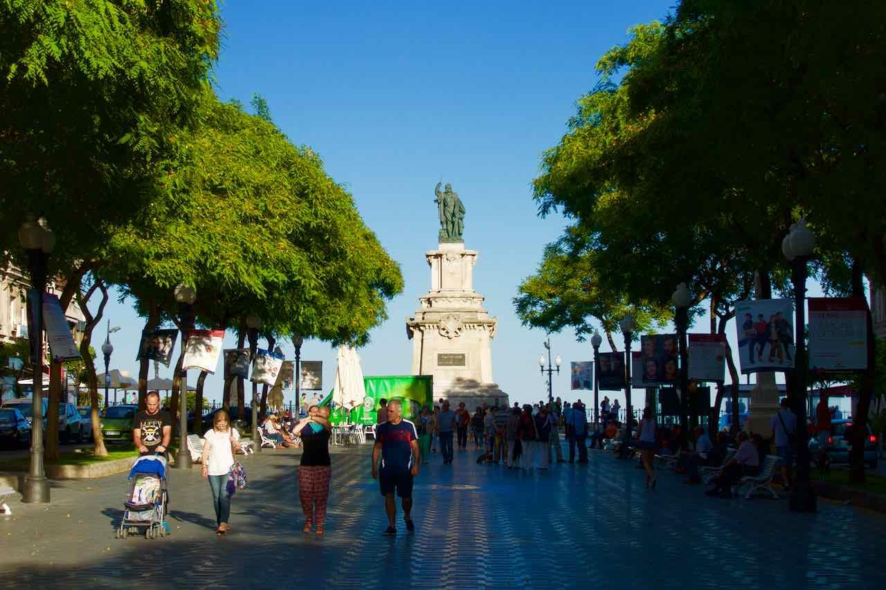 La Rambla in Tarragona, Katalonien