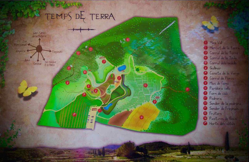 Temps de Terra Katalonien, Spanien, Karte