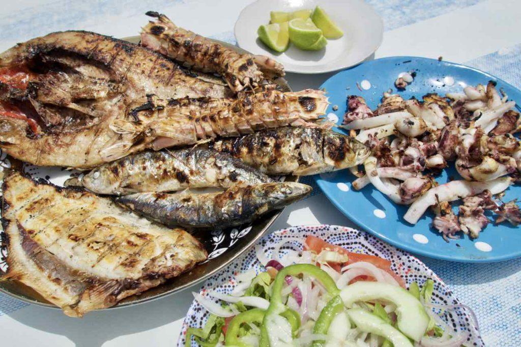 Essaouira Tipps, Die schönsten Restaurants: Fischrestaurants am Hafen: .... und das alles für 10 Euro!