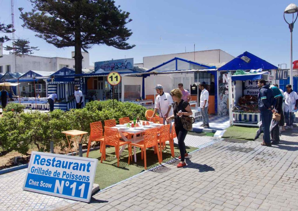 Essaouira Tipps - Die schönsten Restaurants & Riads Fischrestaurants am Hafen