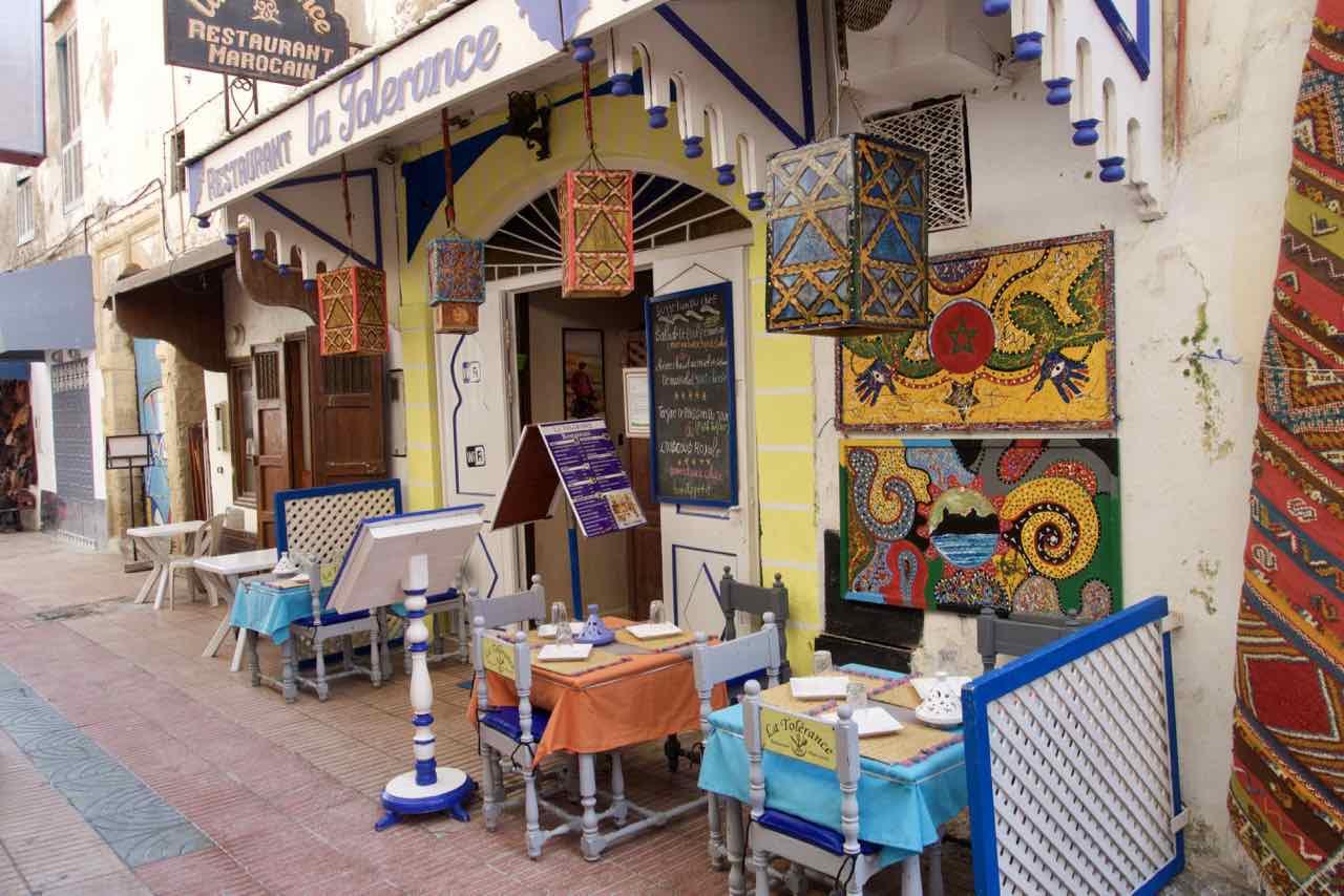 Essaouira Tipps - Die schönsten Restaurants & Riads Restaurant in der Medina Titelbild ©PetersTravel