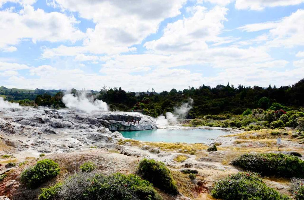 Rotorua Sehenswürdigkeiten, Landschaft in Wai-O-Tapu Neuseeland, ©PetersTravel