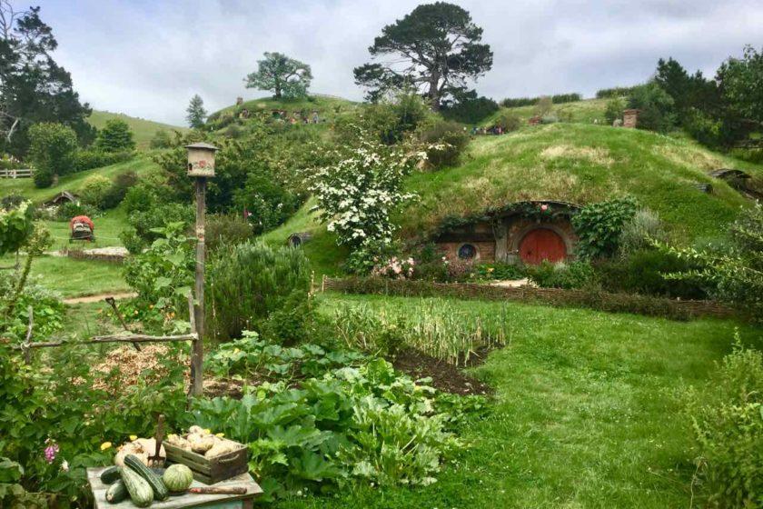 Hobbingen / Hobbiton, Haus mit Gemüse, Titelbild 1 Neuseeland ©PetersTravel