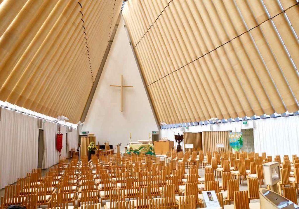 Christchurch Sehenswürdigkeiten Tipps: Cardboard Cathedral Neuseeland @PetersTravel