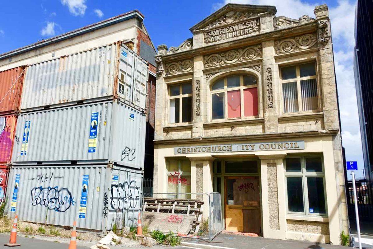 Christchurch Sehenswürdigkeiten Tipps: Container & Abrisshaus Neuseeland @PetersTravel