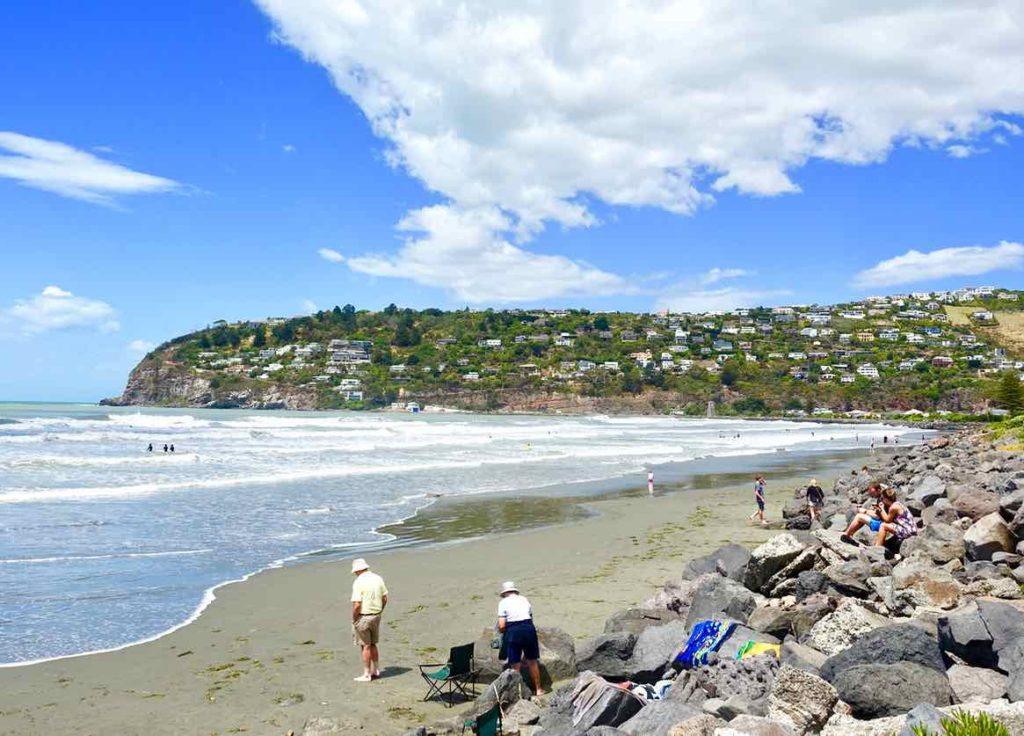 Christchurch Sehenswürdigkeiten Tipps: Strand von Sumner Neuseeland @PetersTravel