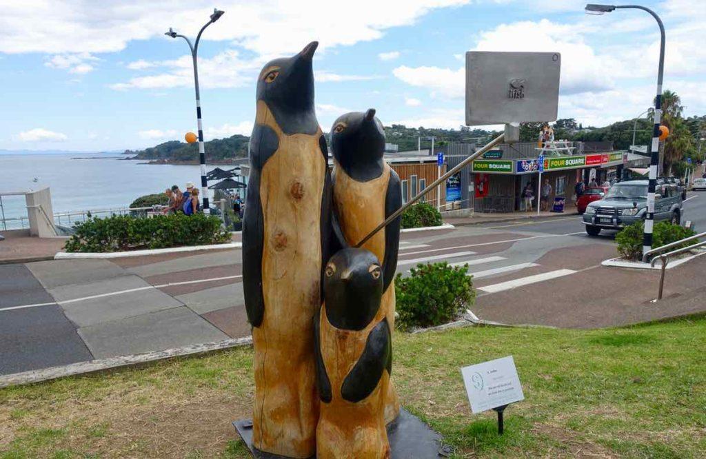 Waiheke Island, Oneroa, Selfie-Pinguine, Neuseeland, @PetersTravel