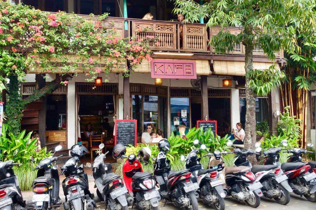 Ubud Restaurants: Das Kafe auf der Jl Hanoman, Bali ©PetersTravel