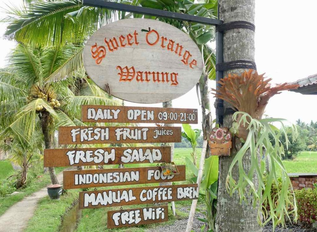 Ubud Restaurants: Sweet Orange Warung, Bali ©PetersTravel