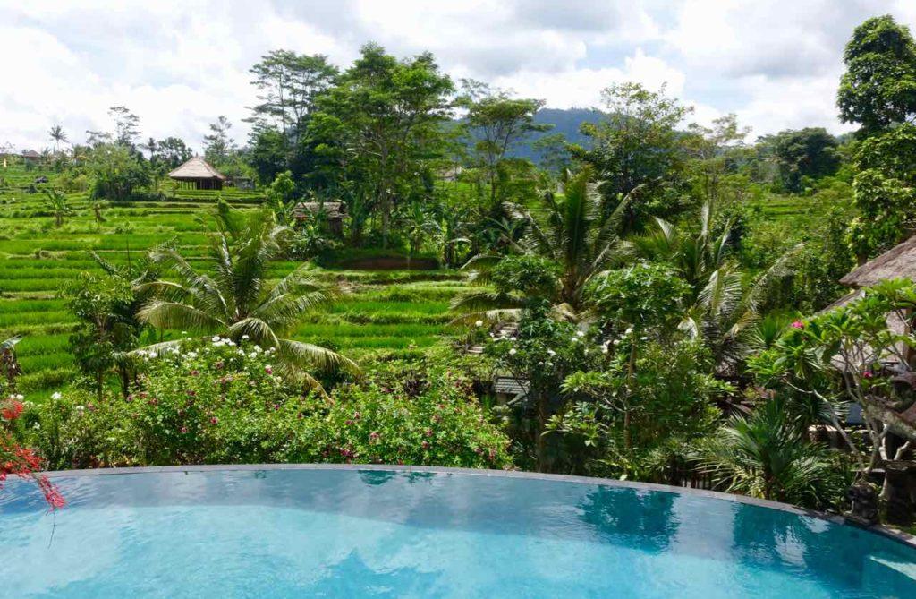 Die schönsten Reisterrassen Bali: Sidemen, Hotel Abian Ayu Villa ©PetersTravel