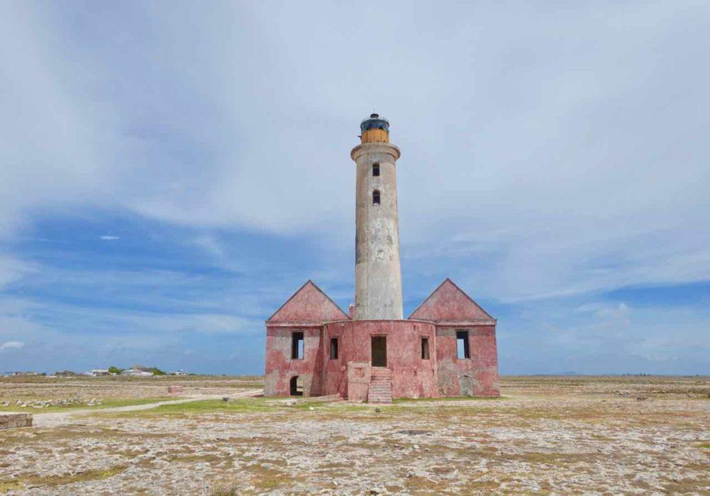 Klein Curacao, Rückansicht vom Leuchtturm, Totale, Copyright Peter Pohle