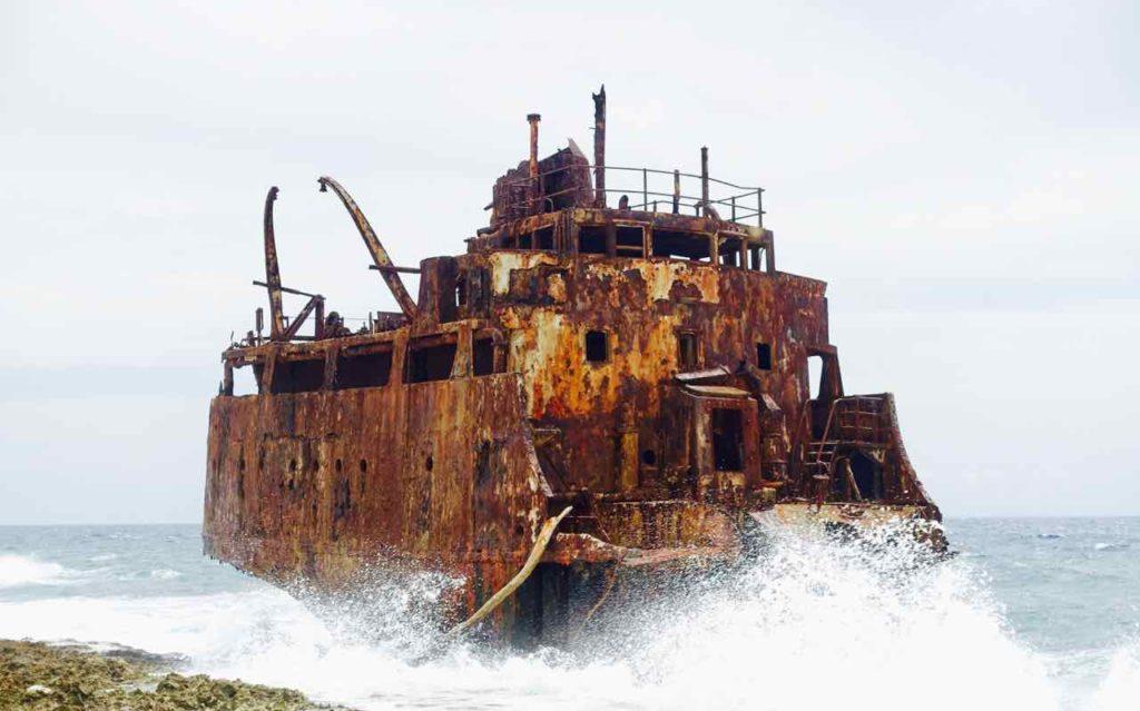 Klein Curacao, Schiffswrack, Copyright Peter Pohle