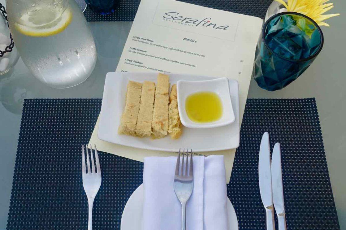 Restaurants Willemstad: Restaurant Serafina in Willemstad, Curacao Copyright Peter Pohle