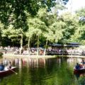 Biergarten im Tiergarten Berlin Cafe am Neuen See, mit See, Titel 1 Copyright Peter Pohle