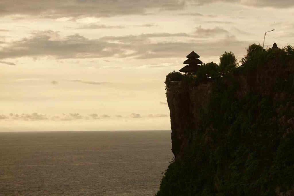 Uluwatu Tempel: Mein Sonnenuntergang war jetzt nicht so aufregend...