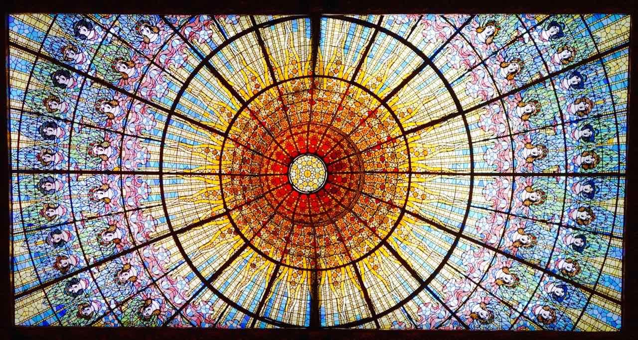 Barcelona Tipps Sehenswürdigkeiten: Palau de la Musica, Glaskuppel Copyright Peter Pohle