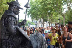 Barcelona Tipps Sehenswürdigkeiten: La Rambla, Lebende Statue