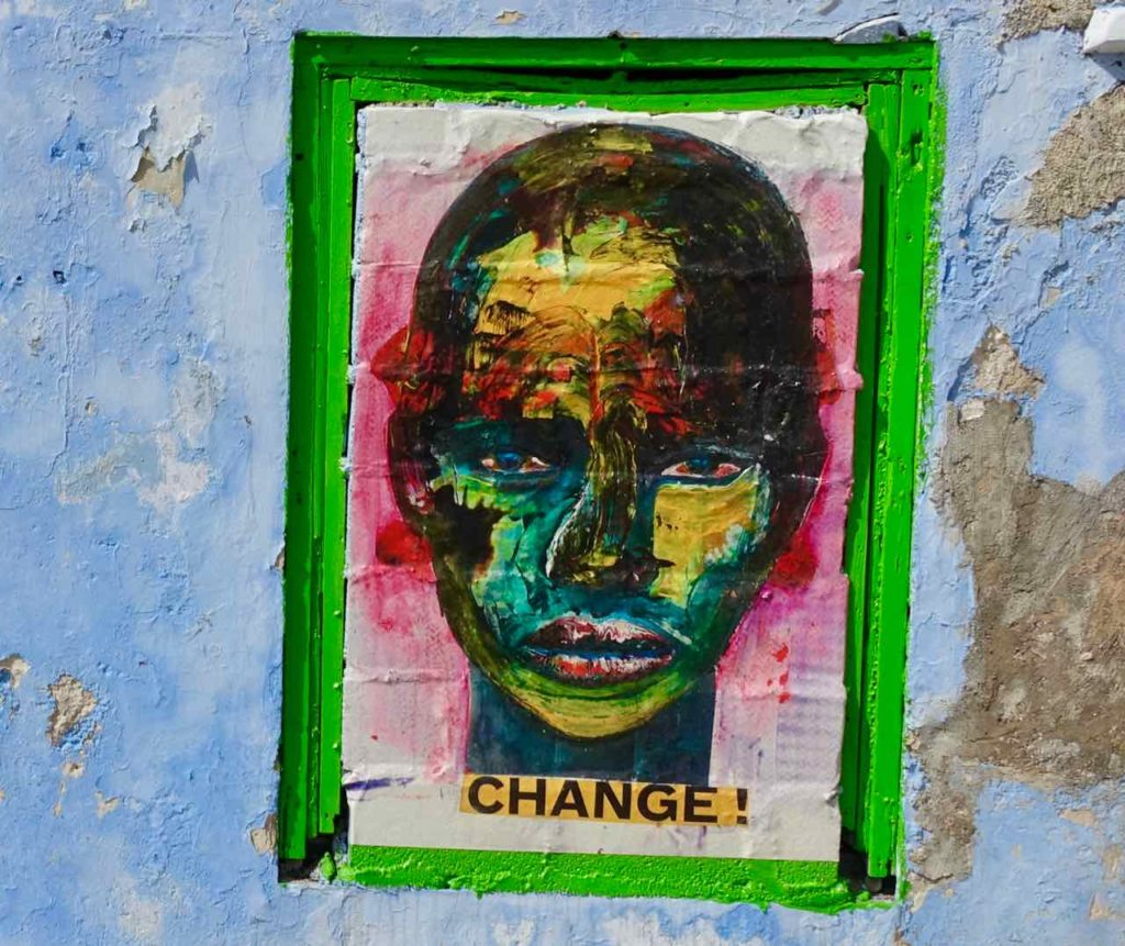 Street Art in Curacao, Willemstad-Scharloo Change von Alex da Silva, Copyright Peter Pohle PetersTravel