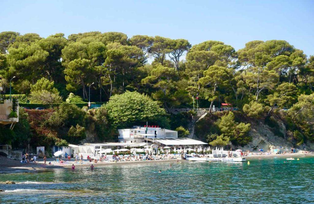 Cap Ferrat an der Cote d'Azur: Der Plage Paloma mit einem exclusiven Restaurant ist schwer angesagt.