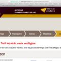 """Etihad Airways Buchungsprobleme: """"Der gewählte Tarif ist nicht mehr verfügbar"""""""