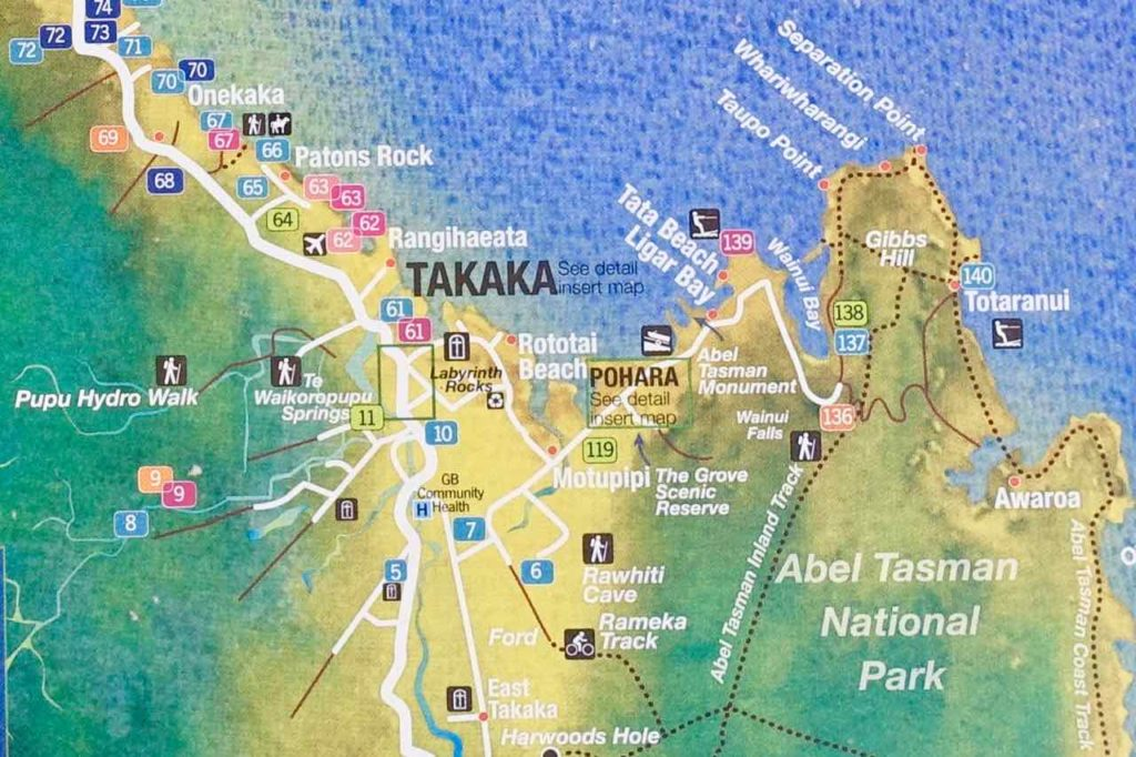 Umgebungskarte von Takaka